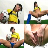 Office Sex : Real Desirable football babe from Ecuador showing shes hypnotic quim