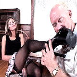 Footjob Movies : Raunchy Stockinged Natalie Sky Foot Sex for real