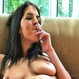 Smoking Fetish : Fresh hot Smoker on shes Knees porno