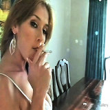 Smoking Fetish : Beautiful perfect Smoker Strikes Pose