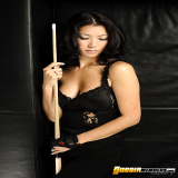 Indian Porn : Fresh Jeanette Lee posing naked with stick for real