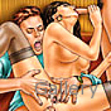 Adult Comics : Spicy drawn characters cum hard