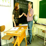 Granny Pussy : Strict Teacher Sofya Canes Her Mature Student On His Bottom