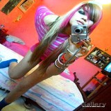 Emo Porn : Adult nice-looking and Sensuous Emo Girlfriend Taking Self shot pictures Of shes priceless Body