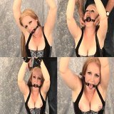 Bondage Sex : Sexy Admirable blond slave with gigantic hooters Tori receives chained and gagged up by insane dom