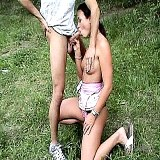 Outdoor Sex : Linda has fantastic sex with quick-minded fellow outdoors