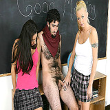 CFNM Videos : School harlots Jerk Classmate To Climax for real
