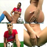 Office Sex : Great Korean football cutie taking garments off & showing her succulent muff