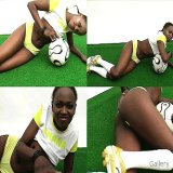 Office Sex : Free Flirty soccer woman from Ghana showing her flawless darksome arse