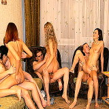 Sex Party : Fresh Hot photos with excited fellow having wild fuck orgy